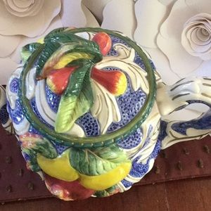 Fitz and Floyd Accents - Fits and Floyd classics fruit teapot decor ceramic